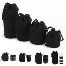 4pcs Waterproof Neoprene DSLR SLR Camera Lens Soft Protector Pouch Bag Case Set