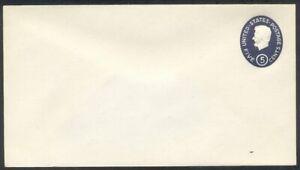 U.S. #U544c Mint Entire - 5c Dark Blue w/ Impression of 4c ($120)