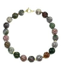 "24 "" large carved multi-color agate bead-16mm necklace NKL230014"