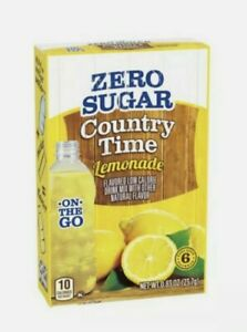 6 Boxes of Country Time On-the Go Zero Sugar Lemonade Drink 6 Boxes = 36 Packets