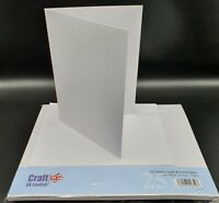 25 x C5 White Cards & Envelopes For Cardmaking