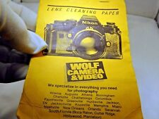 Wolf Camera & Video Lens Cleaning Tissue Paper vintage 1970's