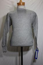 Vintage Healthknit sweatshirt M new nos gray raglan 70's 80's cotton tri-blend