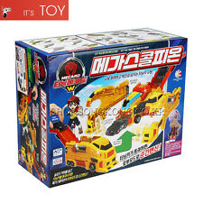 Turning Mecard W MEGA SCORPION Yellow Transformer Robot Car Toy Jumbo Mecarnimal