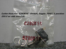 NEW Cutler-Hammer-8280K16 - Switch toggle SPST, 2 position 250.0 ac and 250.0 dc