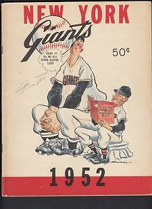Vintage New York Giants 1952 Team Yearbook Excellent Condition Willie Mays auto?