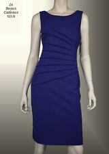 IVANKA TRUMP Women Dress Size 10 GRAPE Knee CREPE Sleeveless Dressy NWT LBCUSA