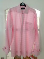 "Men's 15.1/2"" Collar Pink Shirt, DAVID HOWARD Shirtmaker,"