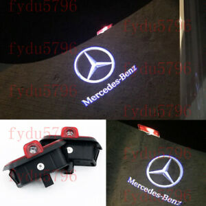 2X LED Logo Door Courtesy Projector Light For Mercedes-Benz C Class W204 2008-14