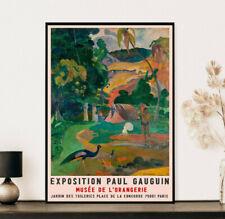 Paul Gaugain Peacocks Exhibition Poster, Vintage Gift, Wall Art Decor Print