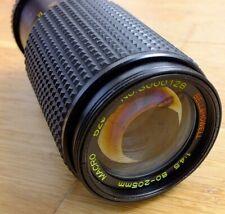 Bell & Howell vintage Japanese zoom telephoto SLR camera lens 80-205 f4.5