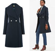 OASIS Lily Doble Abotonadura Cálido Abrigo Chaqueta de Invierno en Azul Marino