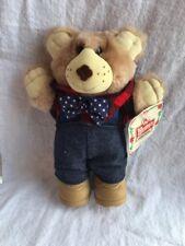 1986 Wendys Kids Meal Furskins Farrell Holiday Plush Stuffed Teddy Bear