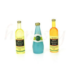 1X Mini Wine Dollhouse Miniature Model Kitchen Room Home Decor XMAS Gift Random