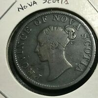1823 NOVA SCOTIA CANADA HALF PENNY TOKEN