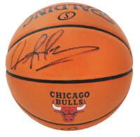 Dennis Rodman Signed Spalding Chicago Bulls Logo Game Series NBA Basketball JSA