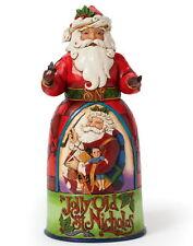 "Jim Shore Figur 4040898 ENESCO CHRISTMAS Skulptur ""Jolly Old St. Nicholas Santa"""