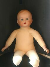 Vintage K star R Baby Doll Bisque Porcelain Head Hands & Cloth Body 16� Free S&H