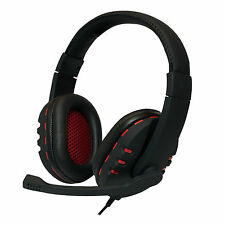 LogiLink Stereo High Quality Headset Kopfhörer Mikrofon USB schwarz HS0033
