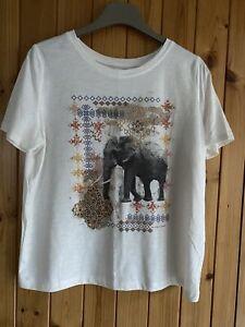 Tu@Sainsburys T-Shirt/ Elephant Design Size 14