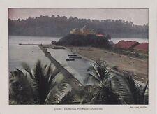 1896  --  ILES ANDAMAN  PORT BLAIR ET L OBSERVATOIRE    3J582