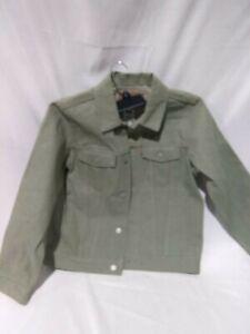 Levi's Jean Jacket Kids Olive Green Denim Trucker Jacket Boys Size M 140-152 cm