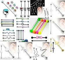 Industrial Scaffold Bar Tragus Bars Black Bright Neon Body Piercings Glow Balls