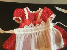 Doll Terri Lee Clothing Heart Fund Costume Dress and Apron  tagged 1950's