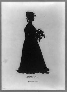 DP,Madison,Dolley,wife,President James,First lady,silhouettes,bouquet,1900 8135