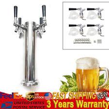 4 Beer Tower Dispenser - Draft Keg Beer Dispenser Kit With 4 Faucet Tap Handles