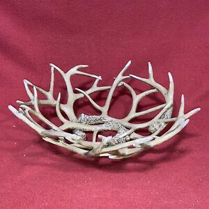 Deer Antler Decorative Bowl