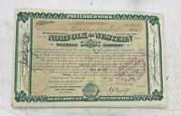 Norfolk & Western Railway Stock Certificate Railroad Southern 1880's