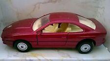 MAISTO AUTOSALONE AUTO DIE CAST BMW 850I BORDEAUX METAL ART 21008