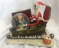 Disney Nightmare Before Christmas SANTA JACK Coffin SLEIGH Blower Snow Globe