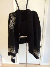 Women's Izod 2X Open Sweater Black & White