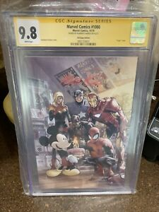 Marvel Comics #1000 Cgc 9.8 SS D23 Expo 1st Mickey Mouse Virgin Cover SS H.Ramos