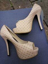 Love Label High Heel Shoes Beige Size 4 uk Size 37 Europe