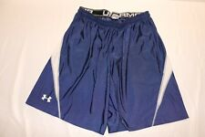 Under Armour Men Running Active Athletic Shorts Size Large Blue White