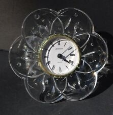 Cristal d'Arques Genuine Lead Crystal Glass Flower Removable Clock Leaf Clock