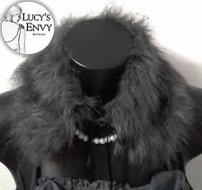 Australian Made Grey Collar Faux Fur Neck (SECOND) by Lucy's Envy W120-16