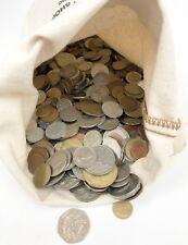 10 Pound Bag Mixed Bulk Lot Foreign World Coins Non US 10 LBS w/ Silver & Bag