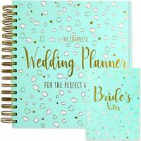 Wedding PLANNER AND NOTEBOOK Set Wedding Diary Organiser in Embossed Gold Foil
