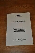 GEC Starfinder Model R8501H Clock Radio Vintage service Manual