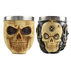 Durable Mens Skull Pattern Soap Mug Shaving Bowl for Male Antiskid Sturdy