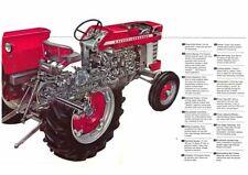 Vintage Massey Ferguson Tractor 150 165 CUTAWAY SALES BROCHURE/POSTER ADVERT A3