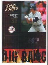 2005 LEATHER & LUMBER ALEX RODRIGUEZ BIG BANG #rd 012 / 100