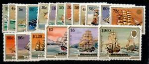 PENRHYN ISLAND SG337/55 1985 SAILING CRAFT SET MNH