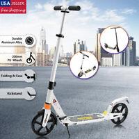 Folding Kick Scooter Outdoor Adult Ride Portable Lightweight Adjustable 2 Wheels