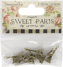 EIFFEL TOWER Charms Sweet Paris 8 Metal Charms TRIMCRAFT DCMC002 New