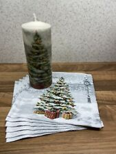 Matching Candle & Napkins Christmas Gift Set